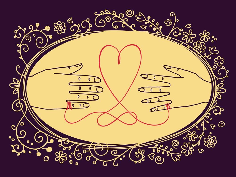 Tatuaggio filo rosso: significato